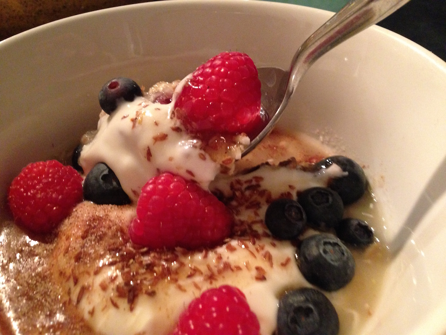 Fruit Mueslix With Yogurt And Berries